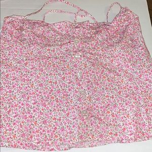 Guess Pink Flower Blouse